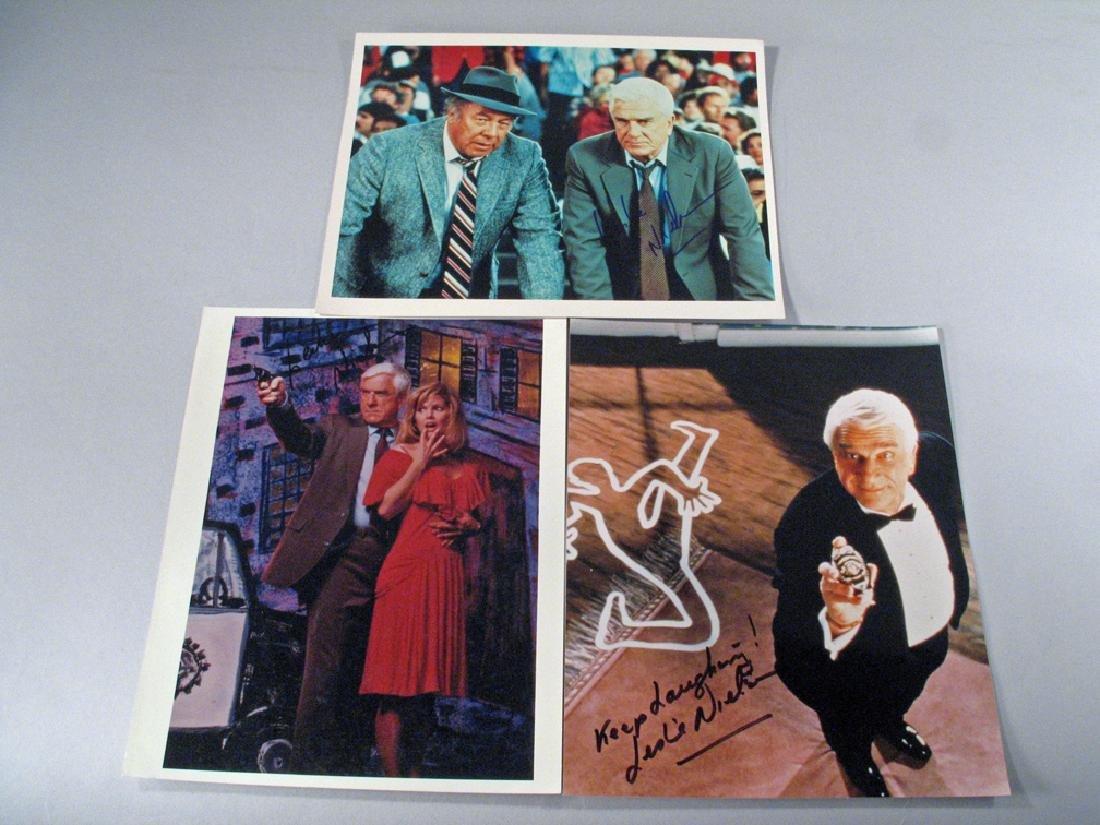 Leslie Nielson Autograph Lot