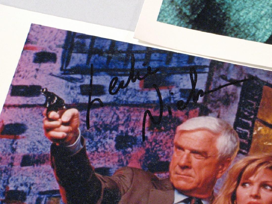 Leslie Nielson Autograph Lot - 2
