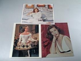 Lauren Bacall Autograph Lot