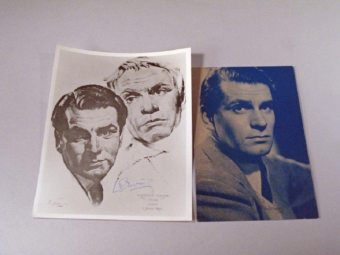 Lawrence Olivier Autograph Lot