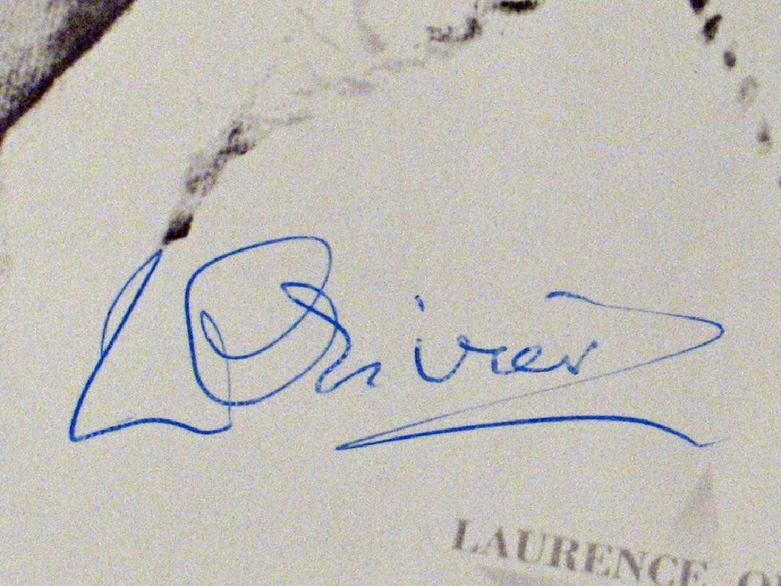 Lawrence Olivier Autograph Lot - 2