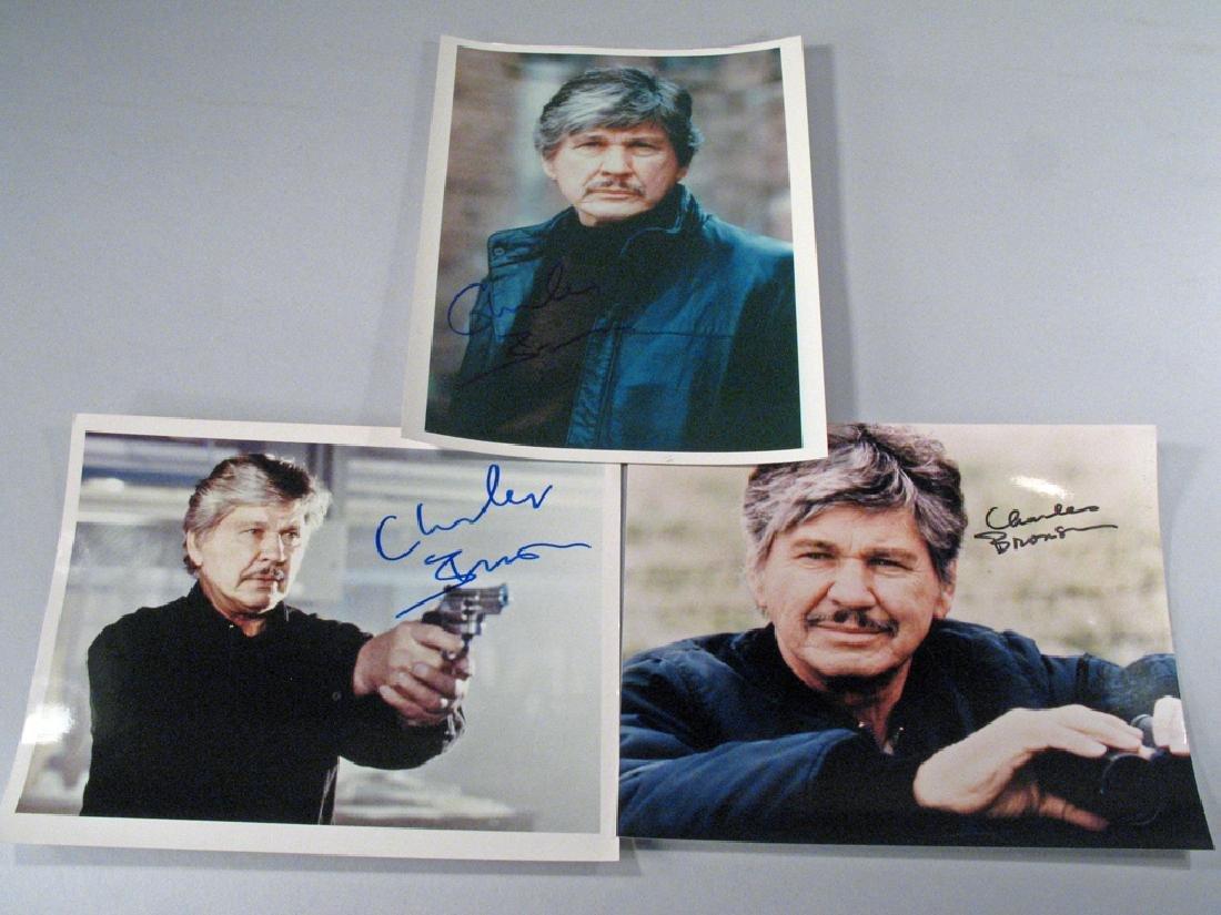 Charles Bronson Autograph Lot