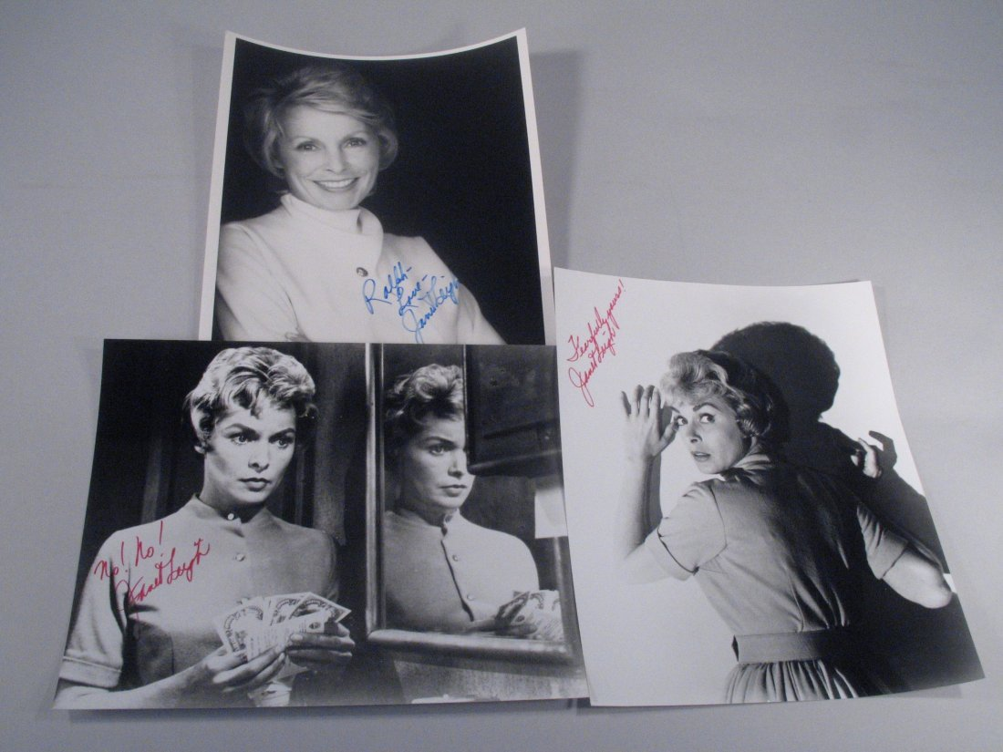 Janet Leigh Psycho Star Autograph Lot