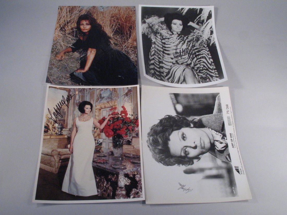 Sophia Loren Autograph Lot