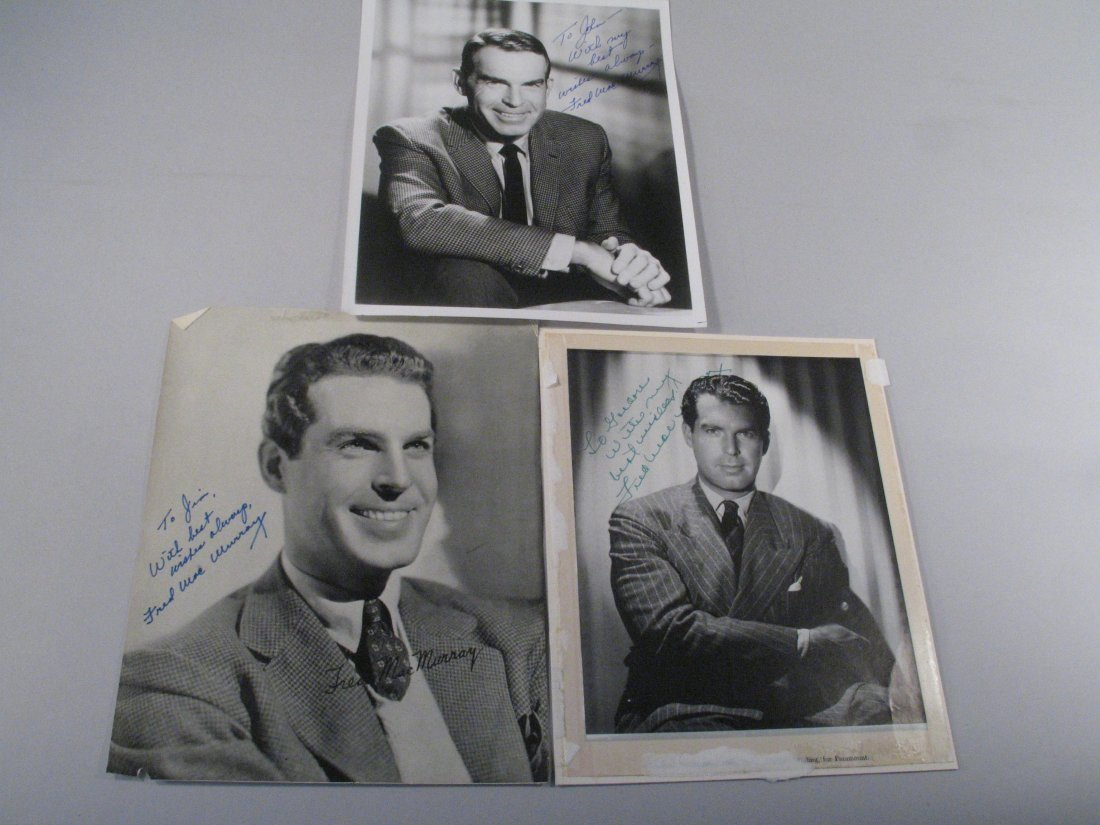 Fred Macmurray Autograph Lot