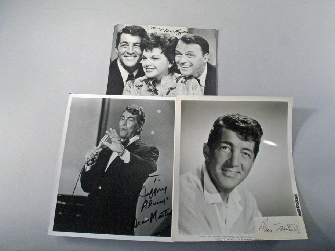 Dean Martin Autograph Lot