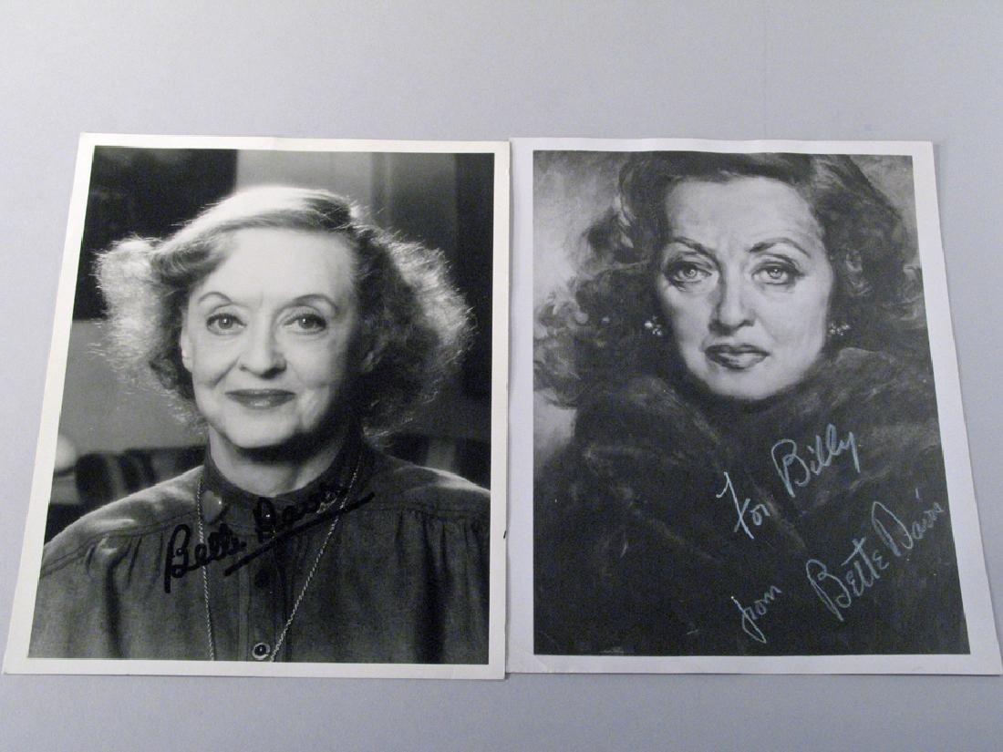 Bette Davis Autograph Lot