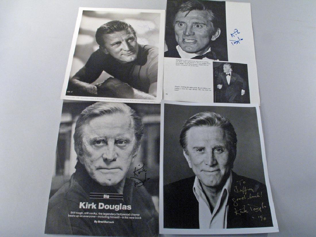 Kirk Douglas Autograph Lot