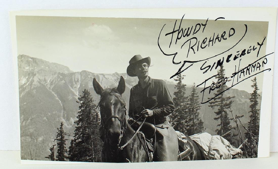 Fred Harman Red Ryder Cartoonist Autographed Photo