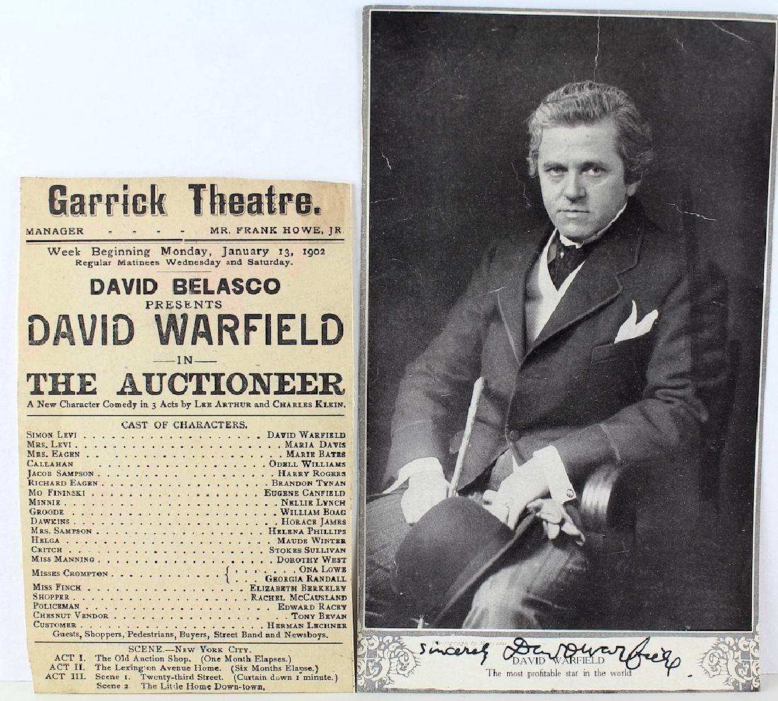 David Warfield Major Star of Broadway Signed Photo