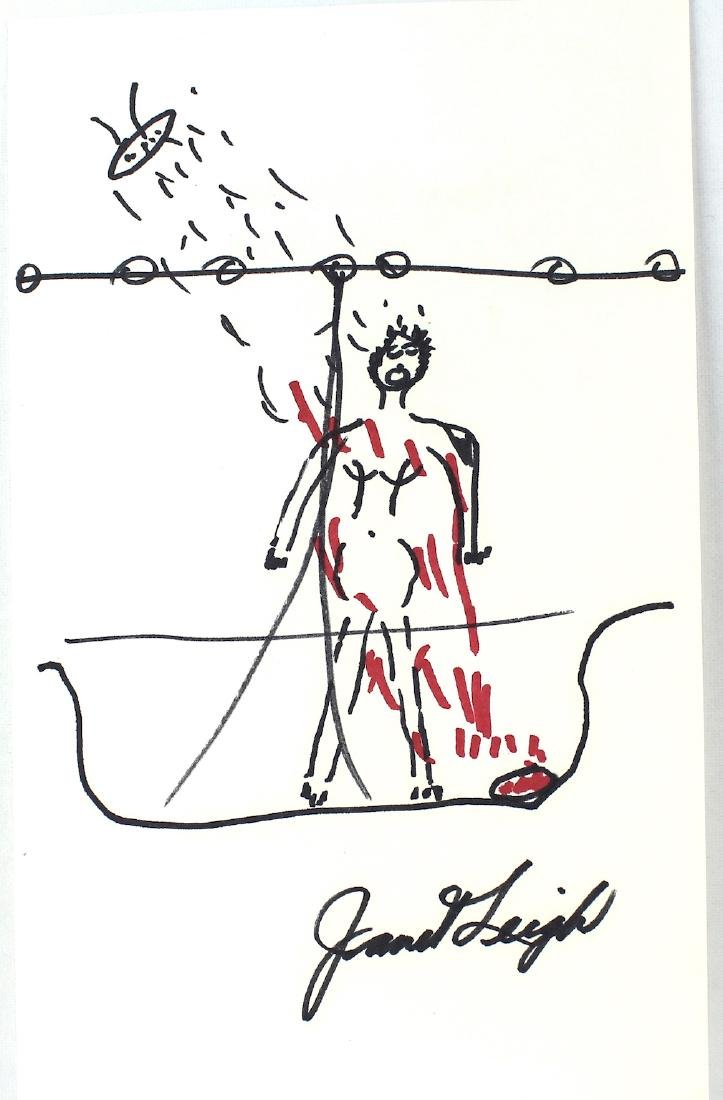 Janet Leigh Drawing of Shower Scene in Psycho