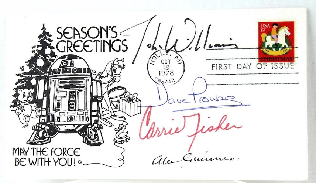 Star Wars Cast Signatures Carrie Fisher Alec Guinness
