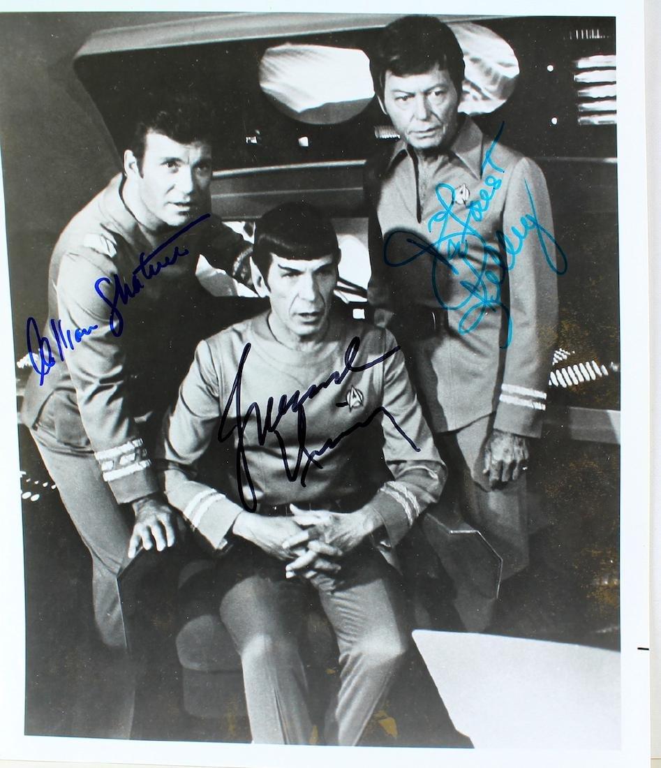 Star Trek Photo Signed Shatner Nimoy and Kelley