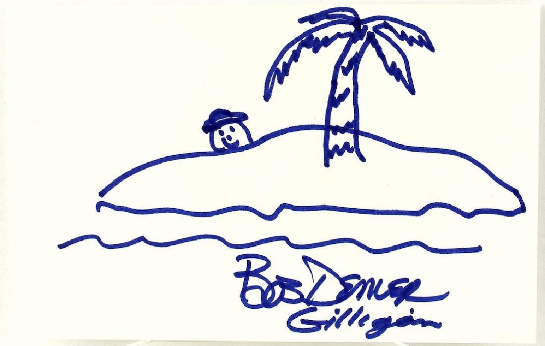 Bob Denver Gilligan Drawing and Signature