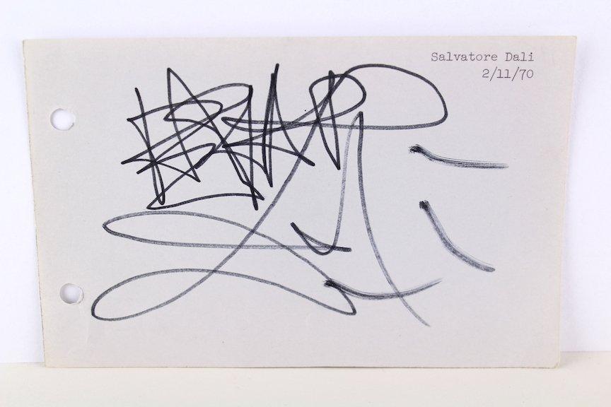 Salvador Dalí Signature 1970