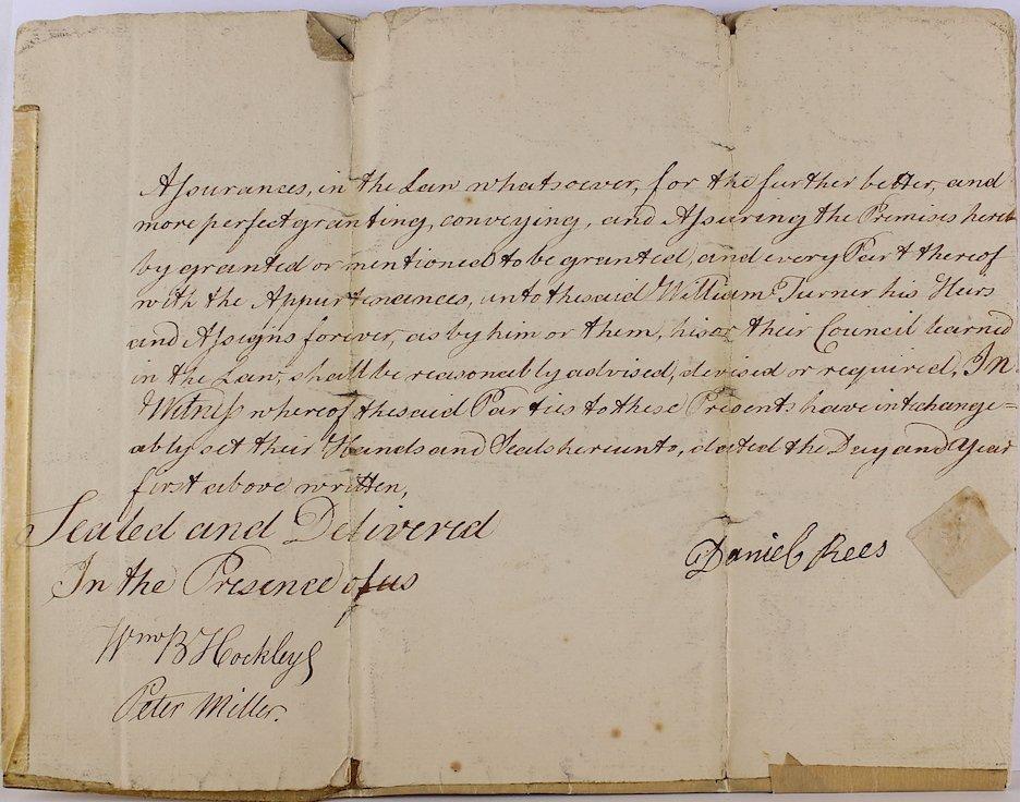 1783 Daniel Rees, Thomas Kean, Peter Miller Signatures - 3
