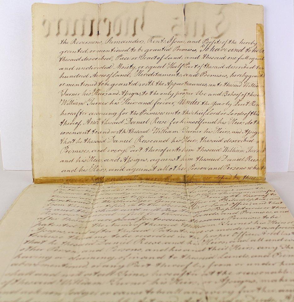 1783 Daniel Rees, Thomas Kean, Peter Miller Signatures - 4