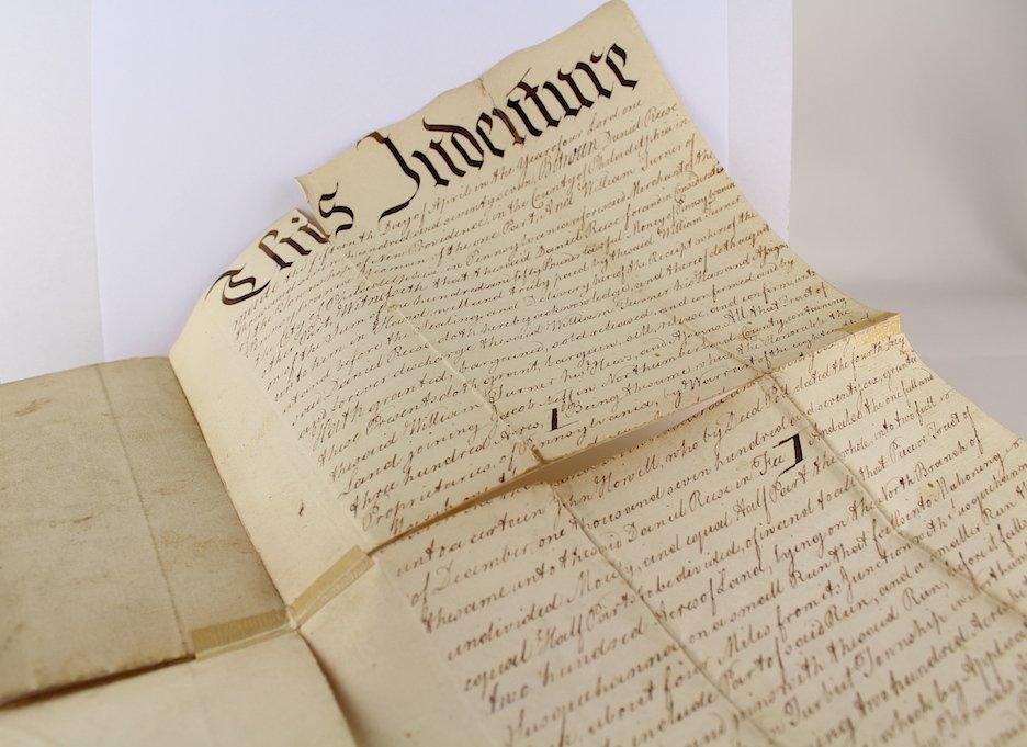 1783 Daniel Rees, Thomas Kean, Peter Miller Signatures - 5