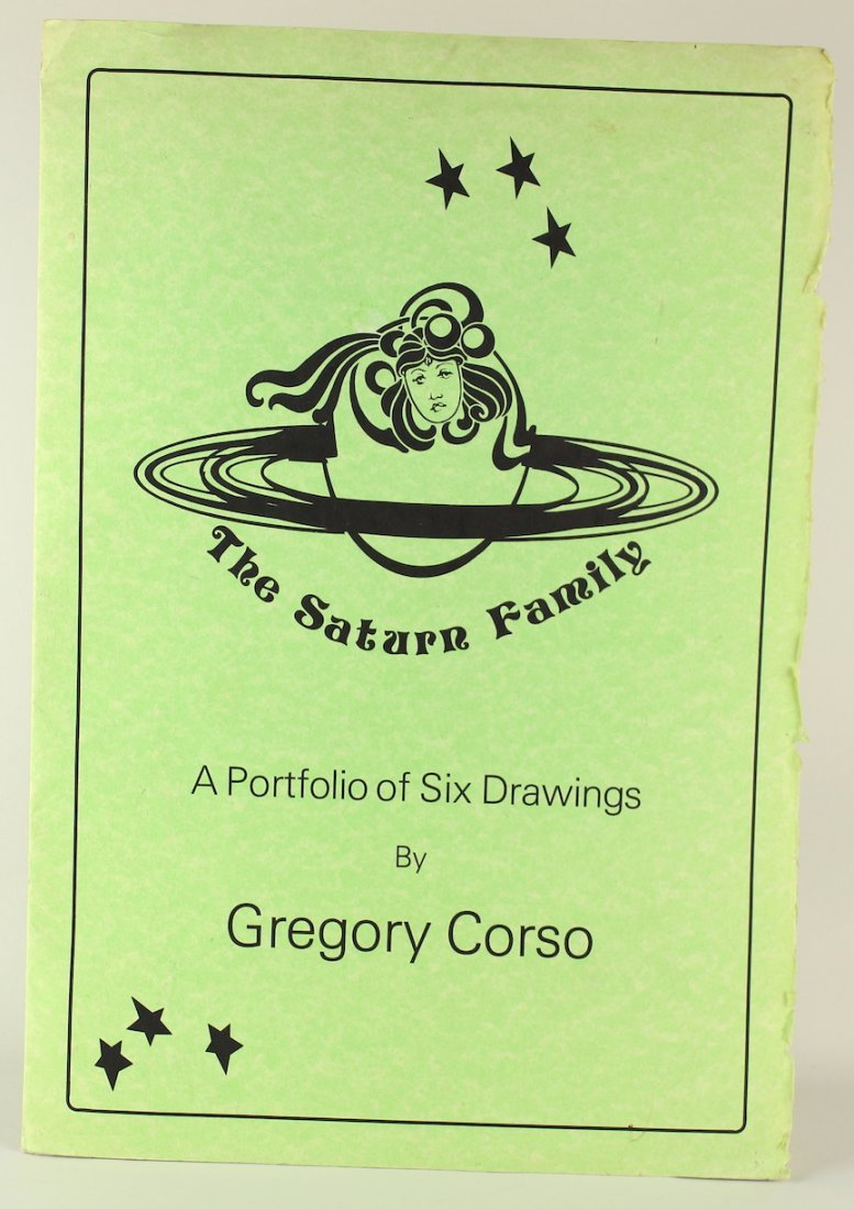 Gregory Corso Beat Generation Poet & Artist Signed Art