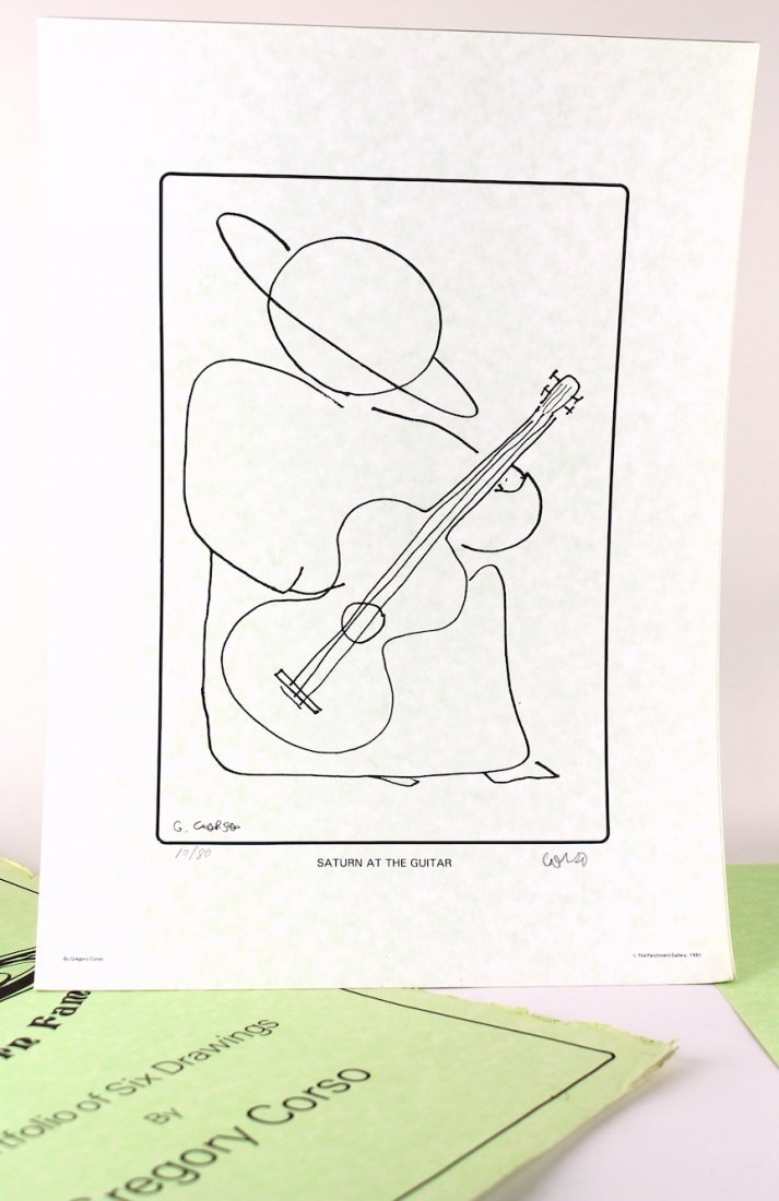 Gregory Corso Beat Generation Poet & Artist Signed Art - 3
