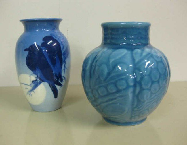 6: TWO ROOKWOOD POTTERY VASES, 1946