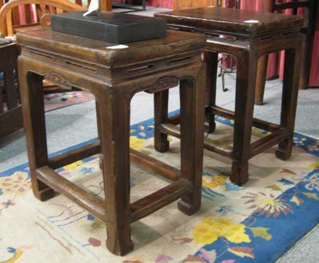 11A: PAIR OF CHINESE END TABLES