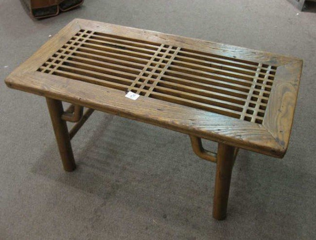 15A: CHINESE ELM OCCASIONAL TABLE