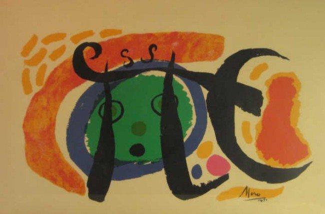 327: JOAN MIRO, SPANISH (1893-1983)