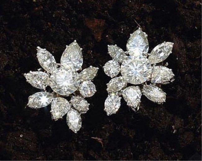 808: VAN CLEEF AND ARPELS DIAMOND EARRINGS