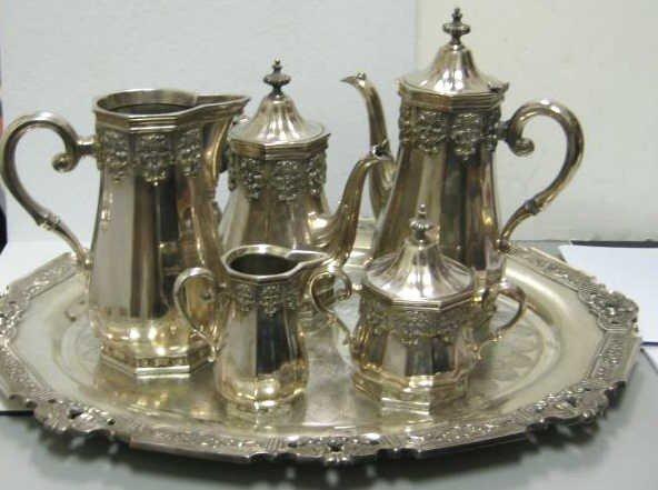 "5: GORHAM ""HISPANA"" SILVER PLATED TEA SERVICE"
