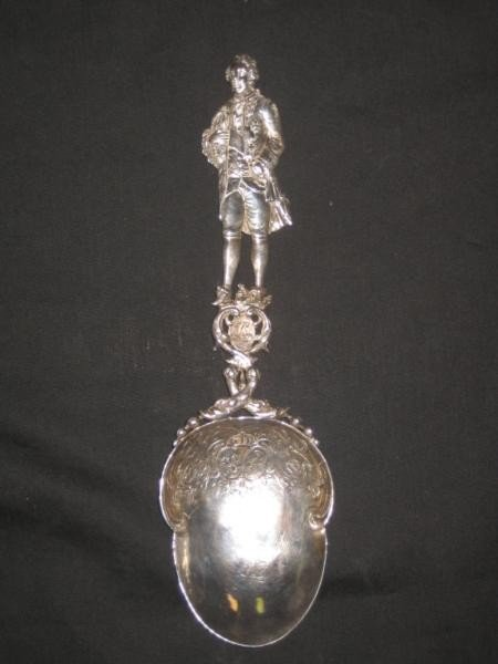 315: FRENCH STYLE SILVER FIGURAL SPOON