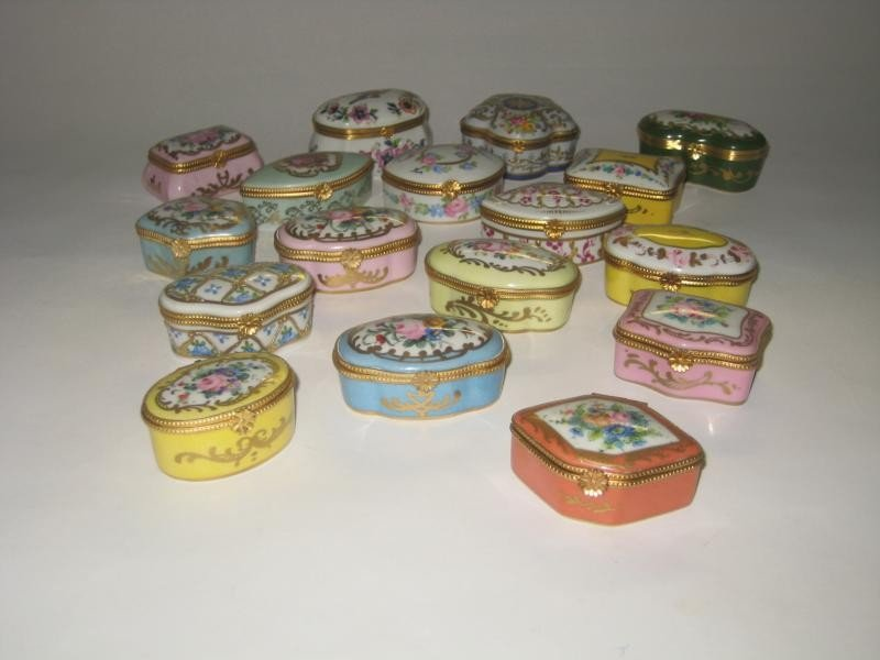 334: FRENCH LIMOGES PORCELAIN BOXES