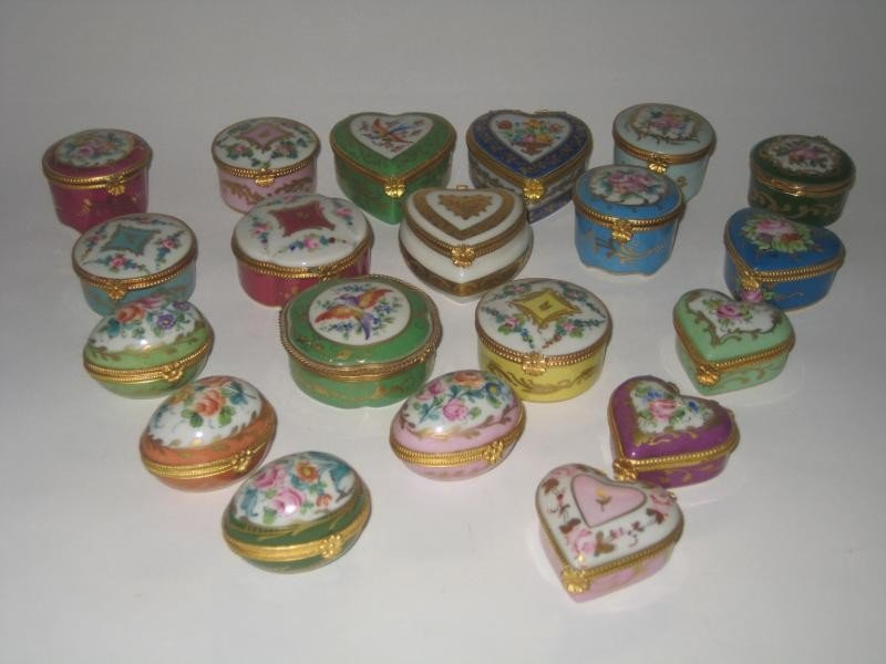 335: FRENCH LIMOGES PORCELAIN BOXES