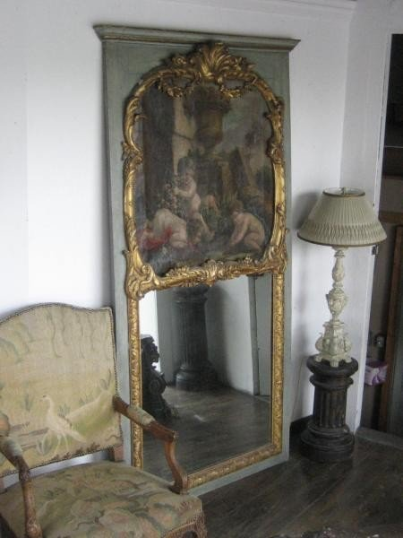 450: FRENCH LOUIS XV TRUMEAU MIRROR