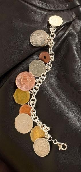 634: COINS-OF-THE-WORLD BRACELET