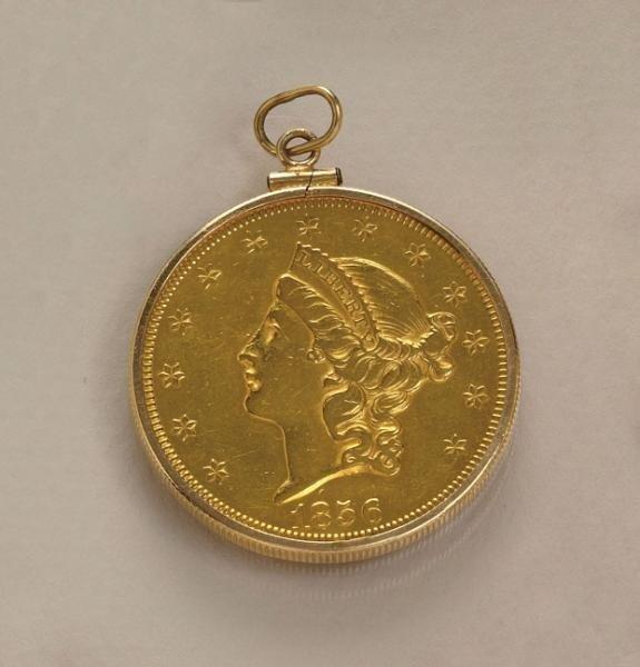 650: GOLD COIN PENDANT