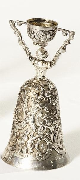 323: GERMAN .925 SILVER WAGER CUP