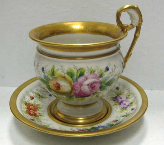 331: CONTINENTAL PORCELAIN CABINET CUP AND SAUCER