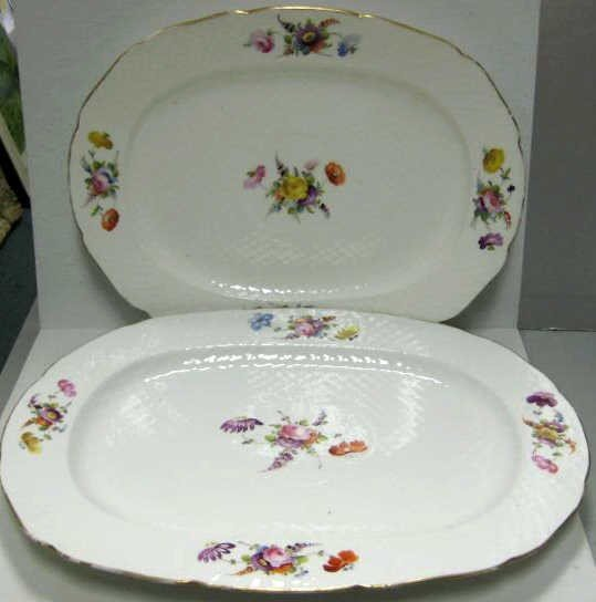 333: TWO CONTINENTAL PORCELAIN PLATTERS