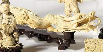 666: CHINESE CARVED IVORY TUSK