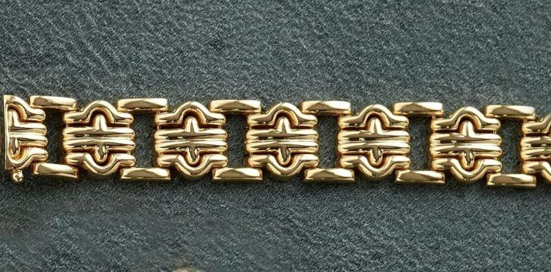 833: GOLD LINK BRACELET