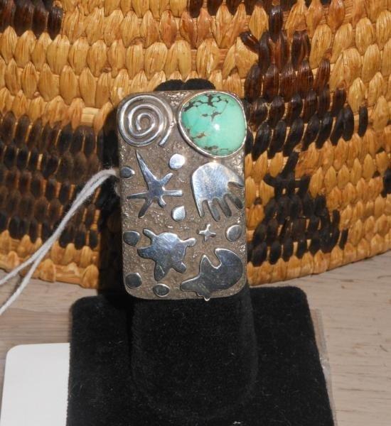4022: NATIVE AMERICAN PETROGLYPH RING