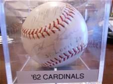 4343: 1962 ST. LOUIS CARDINALS TEAM SIGNED BALL
