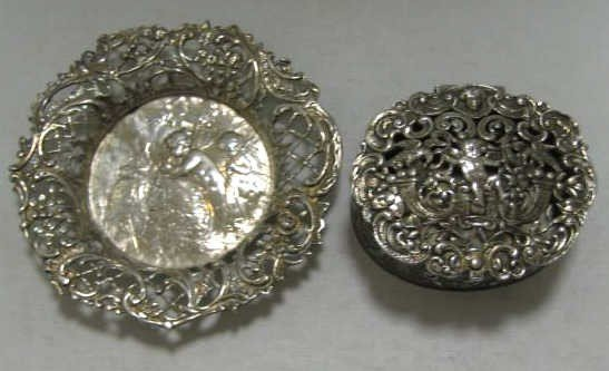 382: TWO PIECES OF GERMAN/ENGLISH SILVER
