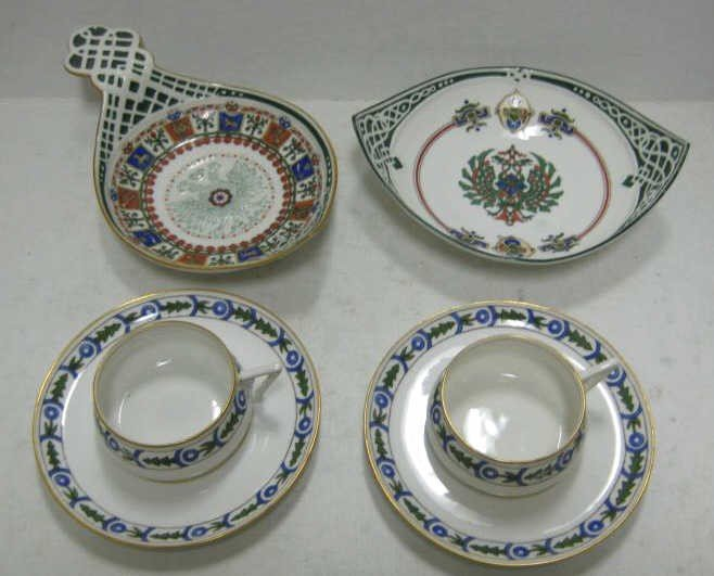398: COLLECTION OF RUSSIAN (KORNILOV) PORCELAIN