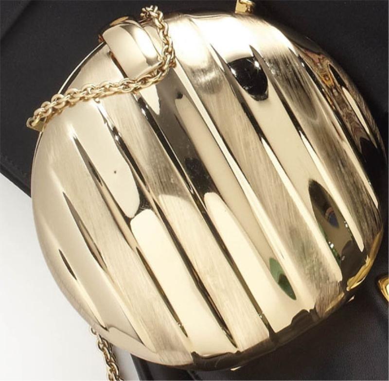 739: GOLD EVENING BAG, RODO