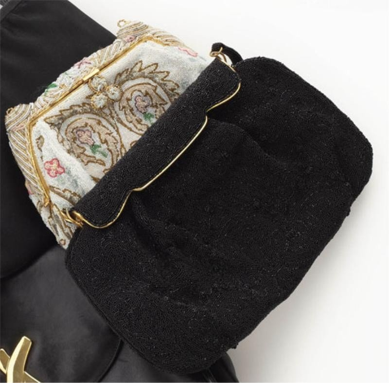 741: TWO FRENCH BEADED EVENING PURSES