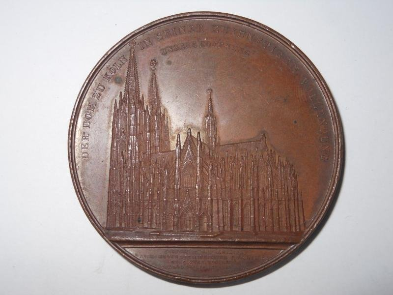 1: COLOGNE CATHEDRAL RESTORATION MEDAL