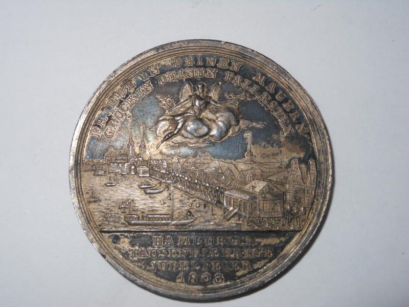2: HAMBURG 1803 SILVER MILLENNIUM JUBILEE MEDAL