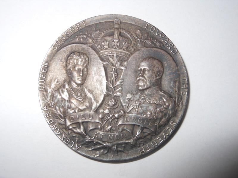 4: EDWARD THE SEVENTH CORONATION MEDAL